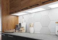 GoodHome Caraway White Mains-powered LED Cool white & warm white Cabinet light IP20 (W)564mm