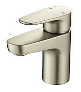 GoodHome Cavally 1 lever Nickel effect Mini Basin Mixer Tap