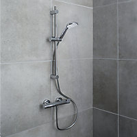 GoodHome Cavally 3-spray pattern Wall-mounted Thermostatic Shower