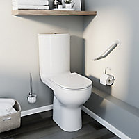 GoodHome Cavally Close-coupled Rimless with Soft close seat