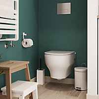 GoodHome Cavally Toilet pan with Soft close seat