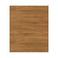 GoodHome Chia Horizontal woodgrain effect slab Highline Cabinet door (W)600mm