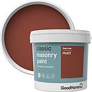 GoodHome Classic Harrow Smooth Matt Masonry paint, 5L Tin