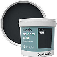 GoodHome Classic Liberty Smooth Matt Masonry paint, 5L Tin