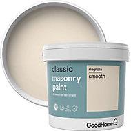 GoodHome Classic Magnolia Matt Masonry paint, 5L