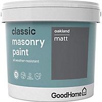 GoodHome Classic Oakland Smooth Matt Masonry paint, 5L Tin
