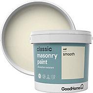 GoodHome Classic Vail Smooth Matt Masonry paint, 5L