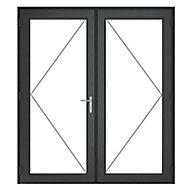 GoodHome Clear Double glazed Grey uPVC External Patio door & frame, (H)2090mm (W)1790mm