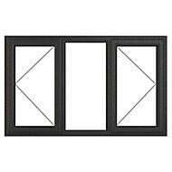 GoodHome Clear Double glazed Grey uPVC RH Window, (H)965mm (W)1770mm