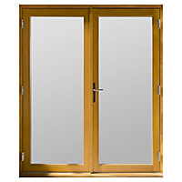 GoodHome Clear Double glazed Hardwood Reversible Patio door & frame, (H)2094mm (W)1194mm