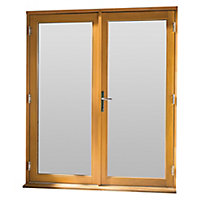 GoodHome Clear Double glazed Hardwood Reversible Patio door & frame, (H)2094mm (W)1494mm