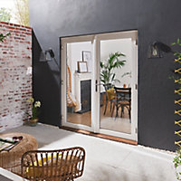 GoodHome Clear Double glazed White Hardwood Reversible Patio door & frame, (H)2094mm (W)1194mm