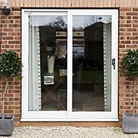 GoodHome Clear Double glazed White uPVC RH Sliding Door, (H)2090mm (W)1490mm