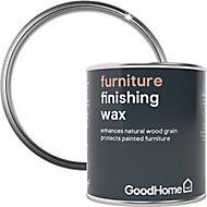 GoodHome Clear Matt Furniture Wax Finishing wax, 0.12L