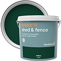 GoodHome Colour it Dalkey Matt Fence & shed Stain, 9L