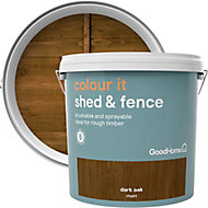 GoodHome Colour it Dark oak Matt Fence & shed Stain, 9L