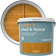 GoodHome Colour it Golden oak Matt Fence & shed Stain, 5L
