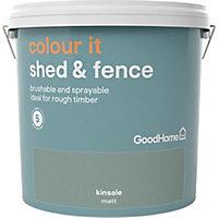 GoodHome Colour it Kinsale Matt Fence & shed Stain, 9L