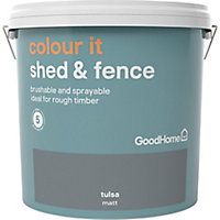 GoodHome Colour it Tulsa Matt Fence & shed Stain, 9L