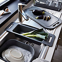 GoodHome Datil Anthracite Rectangular Sink bowl Bowl