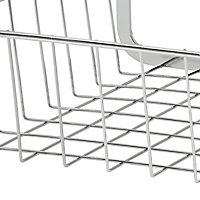 GoodHome Datil Chrome effect Non-magnetic Steel Shelving (L)400mm