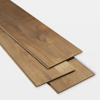 GoodHome Dawlish Natural Oak effect Laminate Flooring, 2.13m² Pack
