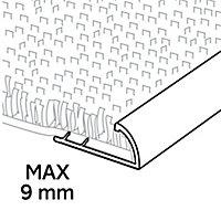 GoodHome DECOR 10 Gloss Silver effect Carpet edging strip (L)180cm