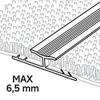 GoodHome DECOR 10 Gloss Silver effect Carpet to carpet trim (L)180cm