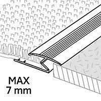 GoodHome DECOR 10 Gloss Silver effect Carpet to flooring trim (L)180cm