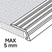 GoodHome DECOR 10 Silver effect Vinyl flooring edging strip (L)93cm