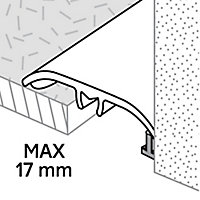 GoodHome DECOR 125 Black Slate effect Threshold (L)93cm