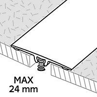 GoodHome DECOR 15 Matt Silver effect Threshold (L)93cm