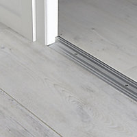 GoodHome DECOR 15 Silver effect Cover strip (L)93cm