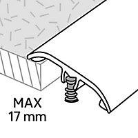 GoodHome DECOR 20 Matt Silver effect Threshold (L)93cm