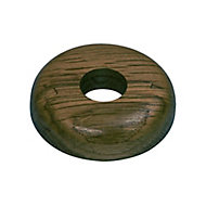 GoodHome DECOR 215 Wooden Dark brown Pipe collar (Dia)16mm, Pack of 2