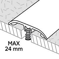 GoodHome DECOR 240 Wood effect Threshold (L)93cm