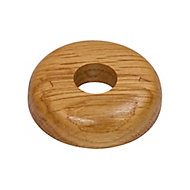 GoodHome DECOR 275 Wooden Oak effect Pipe collar (Dia)16mm, Pack of 2
