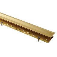 GoodHome DECOR 30 Gold effect Carpet to flooring trim (L)180cm