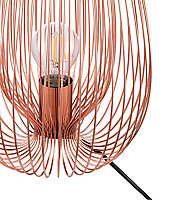 GoodHome Dharug Copper effect Table light