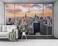 GoodHome Dubia Multicolour New York Matt Mural