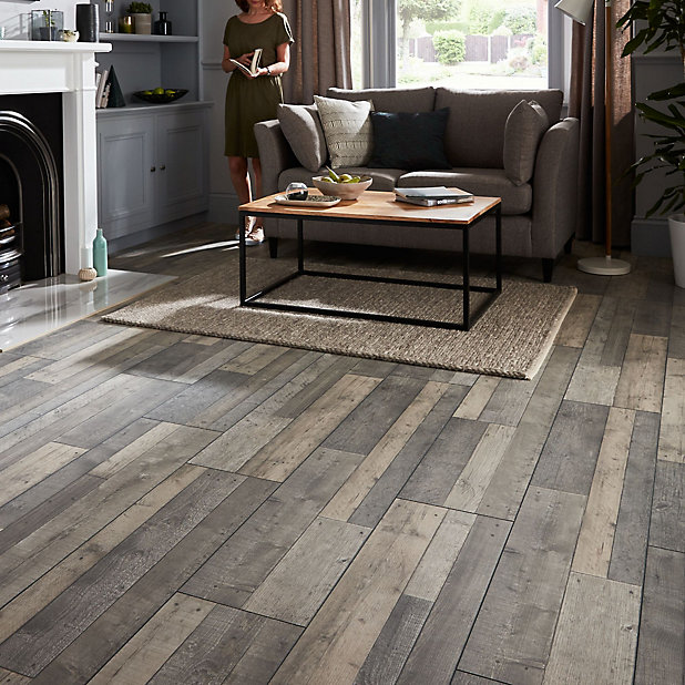 Goodhome Dunwich Grey Oak Effect, Kitchen Laminate Flooring B Q