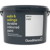 GoodHome Durable Alberta Matt Emulsion paint, 2.5L