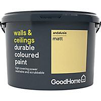 GoodHome Durable Andalusia Matt Emulsion paint, 2.5L