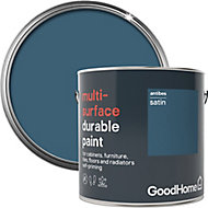 GoodHome Durable Antibes Satin Multi-surface paint, 2L