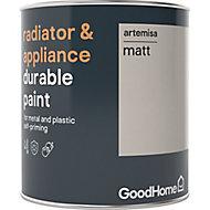 GoodHome Durable Artemisa Matt Radiator & appliance paint, 750ml