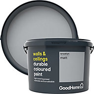 GoodHome Durable Brooklyn Matt Emulsion paint, 2.5L