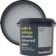 GoodHome Durable Brooklyn Matt Emulsion paint, 5L