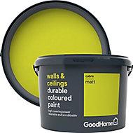 GoodHome Durable Cabra Matt Emulsion paint, 2.5L
