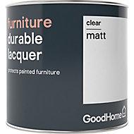 GoodHome Durable Clear Matt Furniture Lacquer, 0.5L