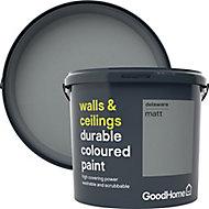 GoodHome Durable Delaware Matt Emulsion paint, 5L